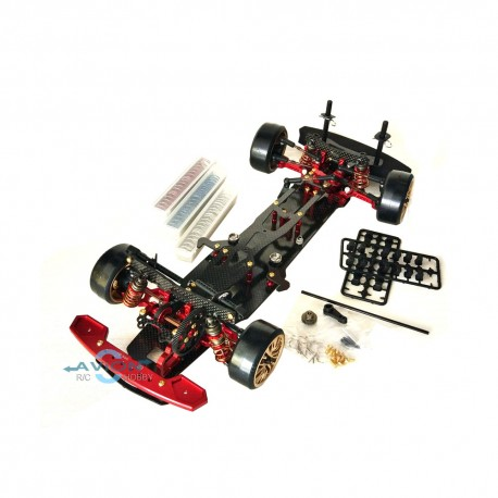 Team Power RC Car Drift DRR-01 Snac D1 KIT (Red / Black)