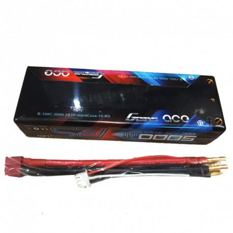 Gens ace 5000mAh 2S1P HardCase 100C for Rc Cars